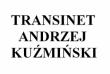 LOGO - ANDRZEJ KUŹMIŃSKI TRANSINET