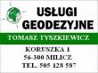 LOGO - Usługi Geodezyjne Tomasz Tyszkiewicz